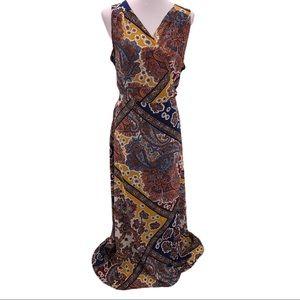 Anthropologie Tiny Mountaire Maxi Wrap Dress Sz L